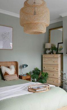 boho bedroom wall color #bedroomideas #bedroom Bedroom Wall Colors, Room Ideas Bedroom, Home Decor Bedroom, Budget Bedroom, Interior Wall Colors, Modern Master Bedroom, Design Bedroom, Sage Green Bedroom, Green Bedroom Walls