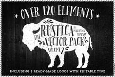Check out Rustica Vector Pack Vol. 2 + 8 Logos by MakeMediaCo. on Creative Market