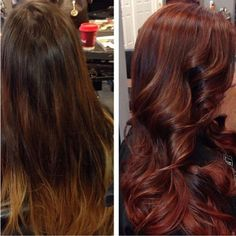I love this hair color!!!   FORMULA HOW-TO: Burning-Leaf Auburn #formula #haircolor #auburn #howto #stepbystep #hairdresser #colorist #redhair