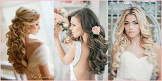 Long loose curls for your wedding day hair..
