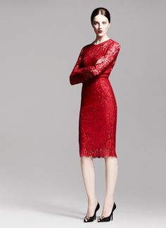 Vestido rojo de olce & Gabbana (otoño).