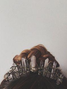 Forest Spirit Crystal Crown by whiskeynwine