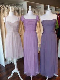 Amsale Bridesmaids Color Combos - Opal, Orchid, Violet.... Love love love the combo of the shades of purple and blush and the different styles