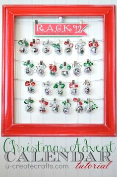 Christmas Advent Calendar...random acts of kindness in each ornament!