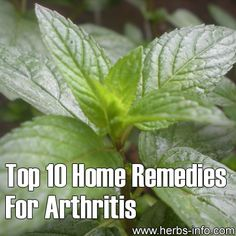 ❤ Top 10 Home Remedies For Arthritis ❤