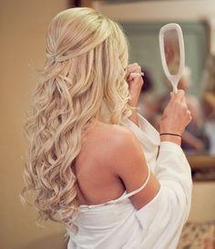 wedding hair ♥️ long hair - curls, half up half down