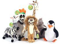 Venda quente brinquedos de pelúcia personagens equipe caráter MADAGASCAR ALEX GLORIA MARTY MELMAN JULIEN pinguim brinquedos de pelúcia crianças brinquedo em Stuffed & Plush Animais de Brinquedos Hobbies & no AliExpress.com | Alibaba Group