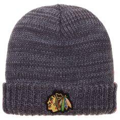 Chicago Blackhawks Grey Cuffed Knit Beanie by American Needle #Chicago #Blackhawks #ChicagoBlackhawks