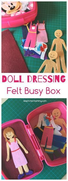 You're only limited by your imagination – make a bunch of separates for dressing up the dolls! Great for long car rides :) Click HERE for the instructions and ideas for other busy boxes…