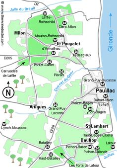 Map of the leading estates of Pauillac,
