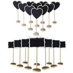 10x Mini Standing Blackboard Chalkboard with Stand Wedding Table Number Sign