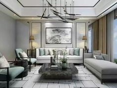 Modern Chinese Sofa Designs Ideas - If you are looking to improve the décor of your home, you might want to consider decorating with Chinese antique furniture and accessories. Living Room Modern, Living Room Interior, Living Room Designs, Living Room Decor, Luxury Interior, Modern Interior, Interior Design, Luxury Sofa, Modern Sofa