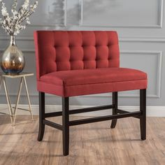 Kenan 29-inch Tufted Fabric Barstool Dining Bench by Christopher Knight Home | Overstock.com Shopping - The Best Deals on Bar Stools