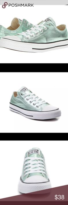 b7a905d797f7 Converse Chuck Taylor All Star Lo Metallic GREEN A shining standout from  the rest