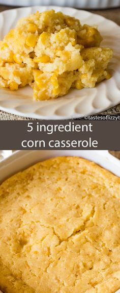 This no-fail corn 5 ingredient corn casserole recipe is versatile and bakes up into a savory side dish that will complement any meal. via @tastesoflizzyt