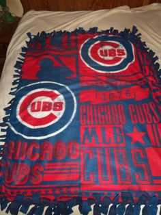 Chicago Cubs Major League Baseball World Series Winners Brand New  Double Sided Hand Tied Fleece Rag Blanket by TrasheeTreasure on Etsy