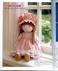 Um Bebê na Camiseta: boneca japonesa camponesa passo - a - passo