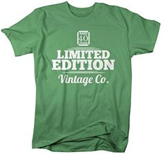 Shirts By Sarah Men's 40th Birthday T-Shirt Limited Edition Personalized Vintage Shirts