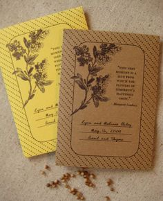 Seed packets as wedding favors! Perfect for a farm wedding