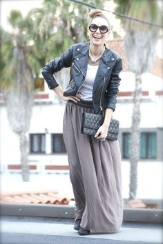 Grey Maxi Skirt - this is like the pfree maxi skirt i want (which ...
