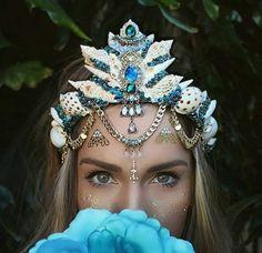 decoration coquillage mer, couronne ethnique et originale