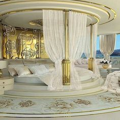 40 Luxury bedrooms you'll definitely wish you could nap in: Round bed