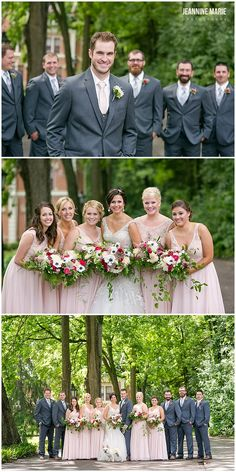Bridal party portraits at August Schell Brewery in New Ulm, MN. Photos by Minnesota wedding photographer Jeannine Marie Photography. #augustschellbrewery #bridalparty #bridesmaids #groomsmen #bride #groom #weddingphotos #poses #summerwedding #minnesota #mnwedding #wedding #minnesotaweddingphotographer #minneapolisweddingphotographer #jeanninemariephotography