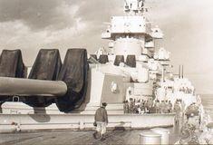 Richelieu class French Battleship, one of the massive quad 15 inch naval gun turrets!