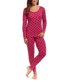 Loving this Pink Heart Pajama Set - Women on #zulily! #zulilyfinds