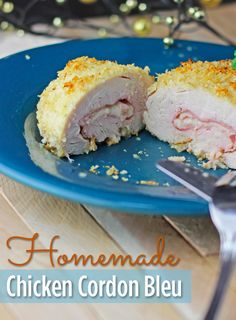 Amazing homemade chicken cordon bleu recipe. If you have ever wanted to make a homemade chicken cordon blue try this recipe!  It's delicious and easy!!