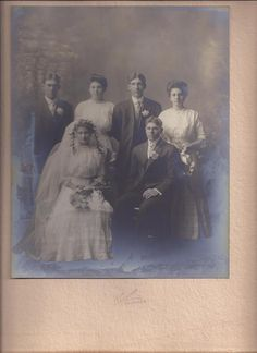 Herman and Lulu(Backhaus)Schutte wedding pic with Lulu's brother Henry Backhaus back left