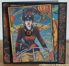 A card with the new and fantastic paper from the Steampunk Spell Collection