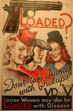 WWII Propaganda Posters - STD