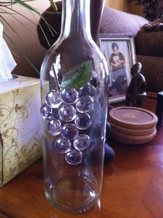 decorating wine bottles | Decorating wine bottles can use alone for olive oil or drill hole and ...