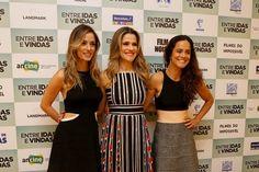 Rosanne Mulholand, Ingrid Guimarães e Alice Braga são operadoras de telemarketing em Entre idas e vindas (Foto: Ag News)
