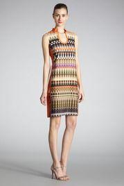 Gradient Printed Tunic Dress