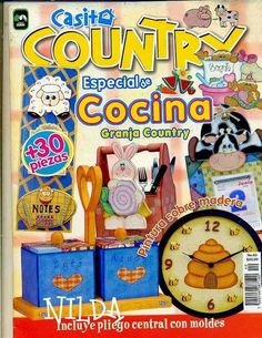 Manualidades para la cocina country