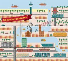 Gdansk city illustrationspoland