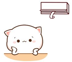 Chibi Cat, Cute Chibi, Cartoon Gifs, Cute Cartoon, Cute Cat Illustration, Cute Love Memes, Dibujos Cute, Cute Cat Gif, Aesthetic Stickers