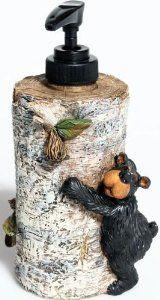 "For new bathroom - Amazon.com: Willie Black Bear Liquid Soap Dispenser, 7"": Home & Kitchen."