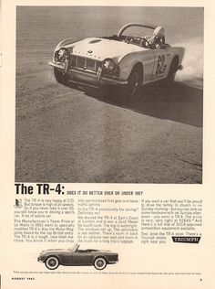 1962 Triumph TR-4 Advertisement Sports Car Graphic August 1962   Flickr - Photo Sharing!