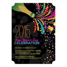 champagne reception new year invitation