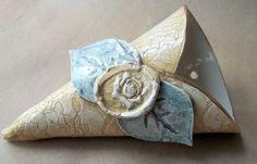 handbuilt ceramics | Ceramic Lace Wall Vase hand built pottery by dgordon on Etsy