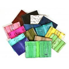 100% Handmade Authentic Exotic Cobra Snake Skin Leather Mini Wallet / Cardholder