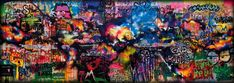 The graffiti wall that inspired the album art of Mylo Xyloto by Coldplay. By Paris