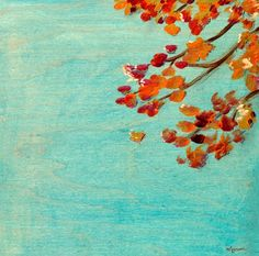 """Fall Leaves"" contemporary wall art by Creative Thursday by Marisa for GreenBox Art + Culture $69"