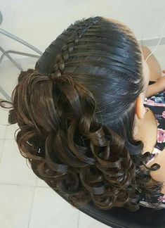 Hair Style Cutting For Girl Fast Hairstyles, Little Girl Hairstyles, Braided Hairstyles, Kids Hairstyle, Girl Haircuts, Love Hair, Great Hair, Curly Hair Styles, Natural Hair Styles