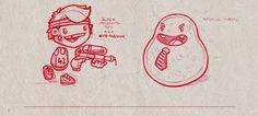 Sketchbook Scribbles by Juicefoozle , via Behance