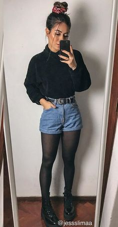 Fashion Tips 101 .Fashion Tips 101 Edgy Outfits, Winter Fashion Outfits, Mode Outfits, Cute Casual Outfits, Look Fashion, Fall Outfits, Girl Fashion, Autumn Fashion, Friends Fashion