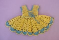 ANTIQUE / VINTAGE DOLL DRESS  c1950